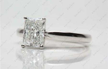 comfort fit platinum solitaire ring with radiant diamond