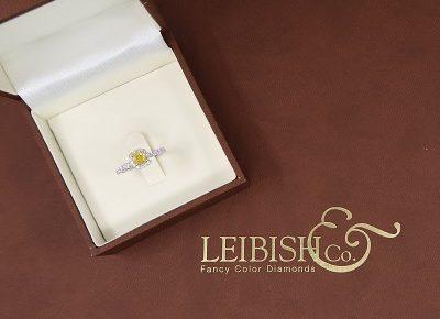 natural yellow cushion cut diamond ring