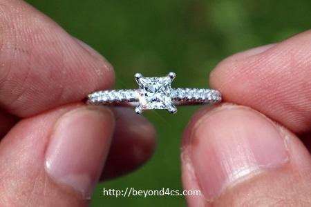 2 thousand dollar engagement ring princess cut diamond