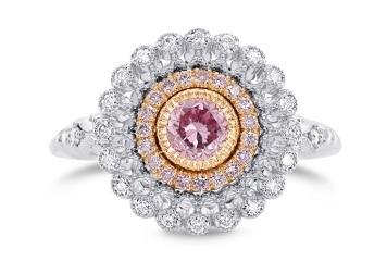 argyle purplish pink diamond highlight with halo accents