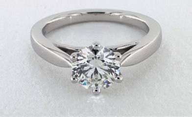 g color diamond in white platinum setting