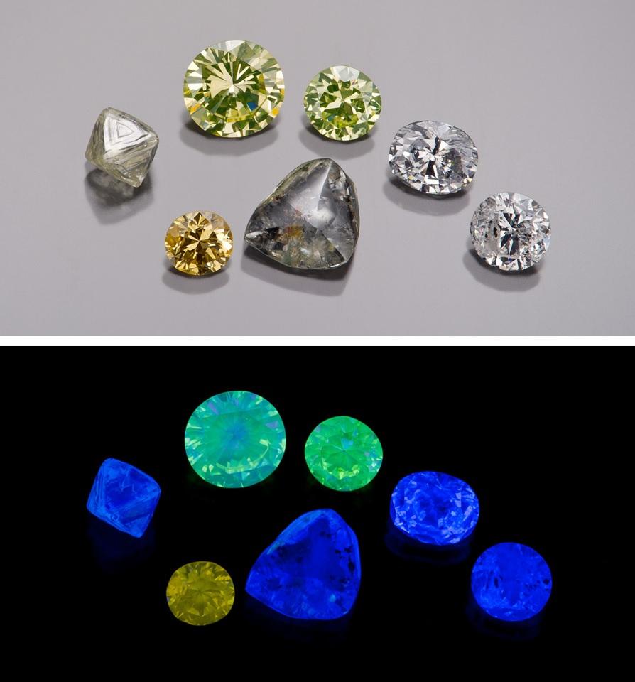 diamonds that glow in black light
